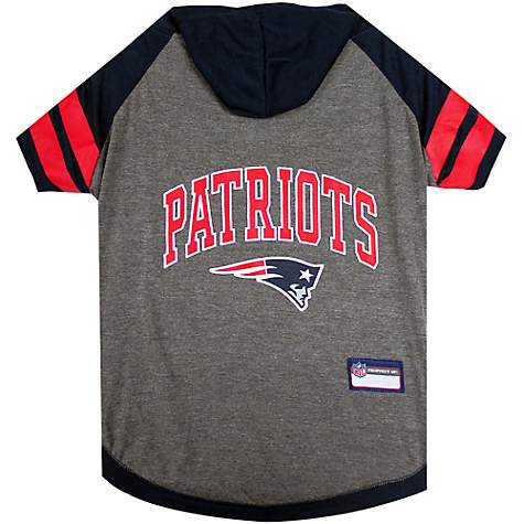 Pets First New England Patriots Hoodie Tee Shirt For Dogs