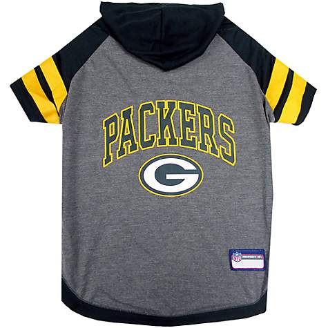 Pets First Green Bay Packers Hoodie Tee Shirt For Dogs