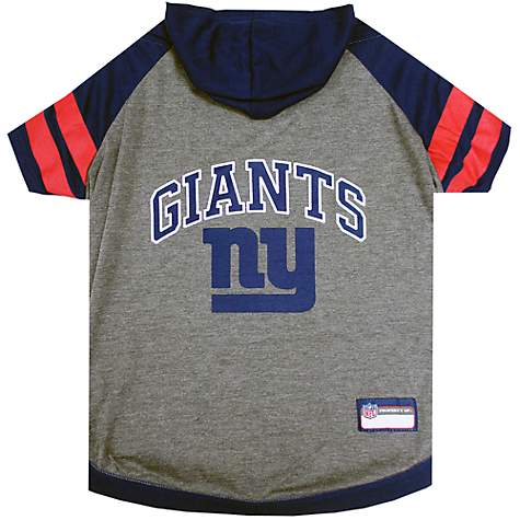 huge discount 802c7 a5a09 Pets First New York Giants Hoodie Tee Shirt For Dogs, X-Small