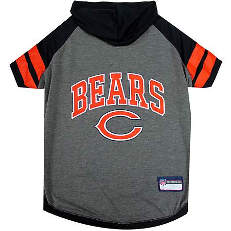06c0253b Pets First Chicago Bears Hoodie Tee Shirt For Dogs, X-Small