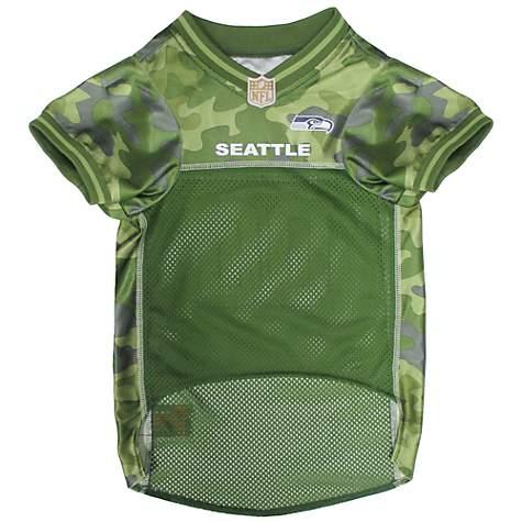 Pets First Seattle Seahawks Camo Jersey  a5cb1f33b