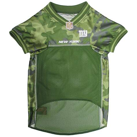 separation shoes 8d707 e2962 Pets First New York Giants Camo Jersey, Large