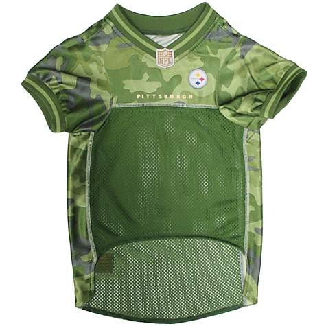 promo code f25d2 31018 Pets First Pittsburgh Steelers Camo Jersey, X-Small