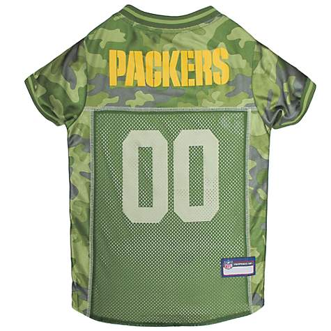 Pets First Green Bay Packers Camo Jersey  18243131b