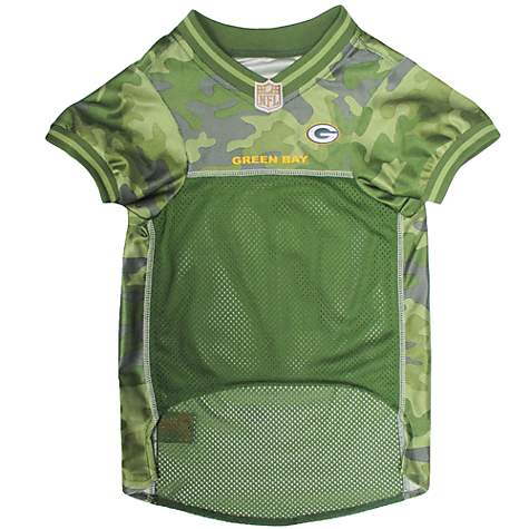 newest collection 0f067 4f756 Pets First Green Bay Packers Camo Jersey, X-Small