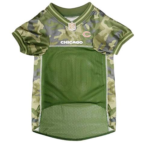 uk availability 1bd25 55f4c Pets First Chicago Bears Camo Jersey, X-Small
