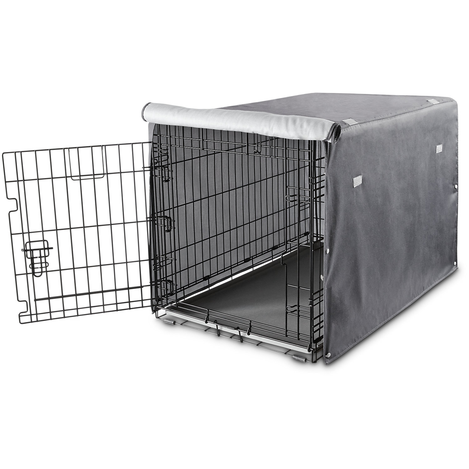 You & Me Dog Crate Cover In Grey, 37, Large