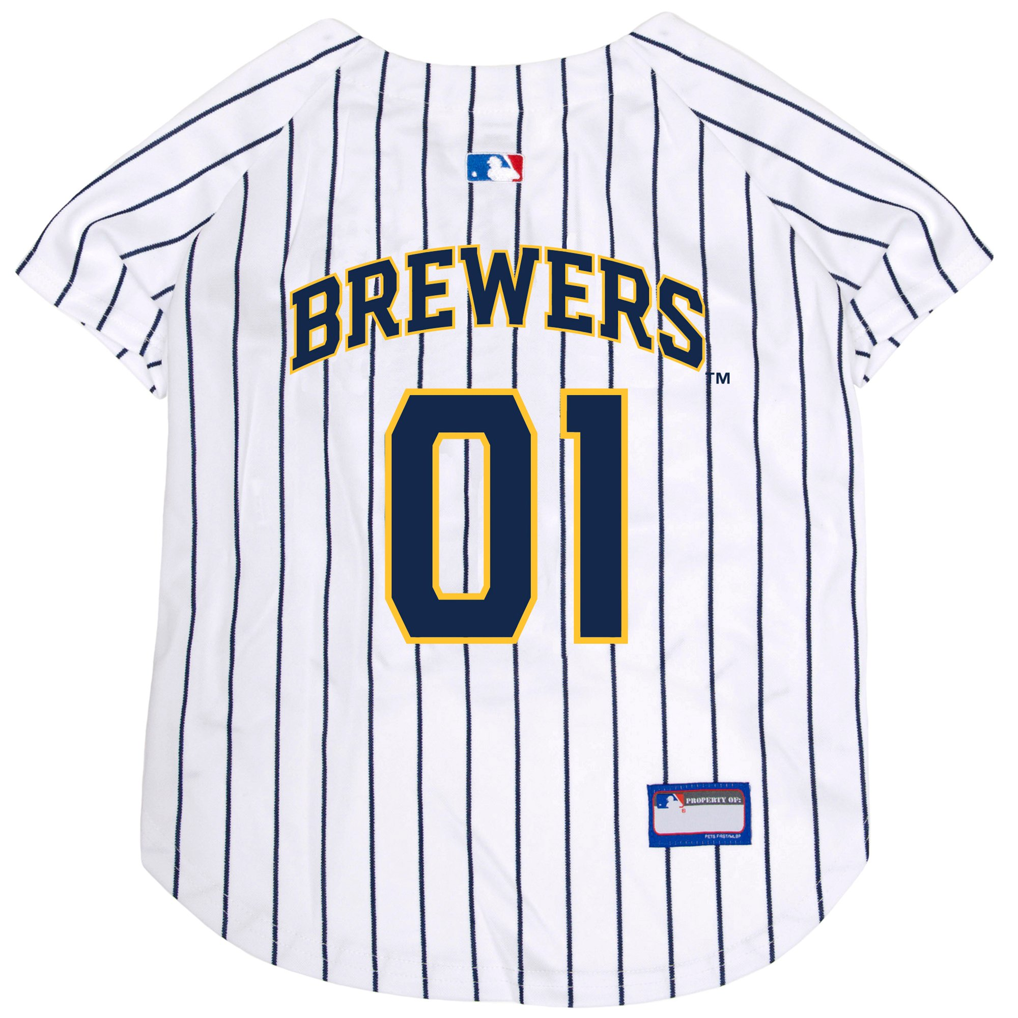 the latest fbd73 d784f Pets First MLB Milwaukee Brewers Jersey for Dogs, X-Small | Petco