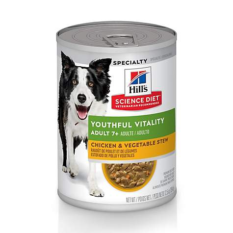 Hill's Science Diet Youthful Vitality Adult 7+ Chicken & Vegetable Stew Canned Dog Food