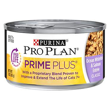 Purina Pro Plan Prime Plus Adult 7+ Ocean Whitefish & Salmon Entree Classic Cat Food