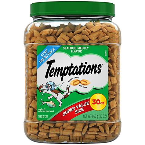 Temptations Classic Seafood Medley Flavor Cat Treats