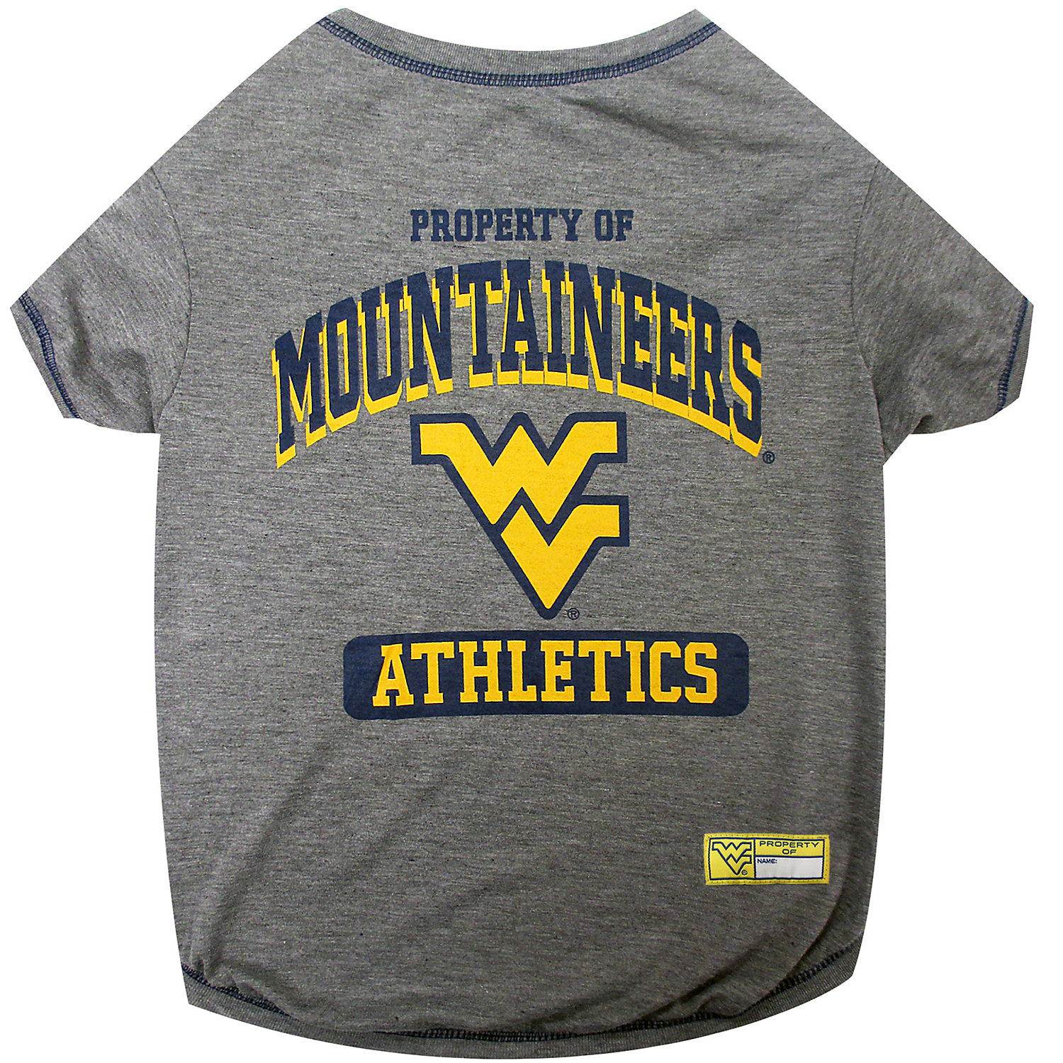 West Virginia Mountaineers Ncaa T Shirt For Dogs Small