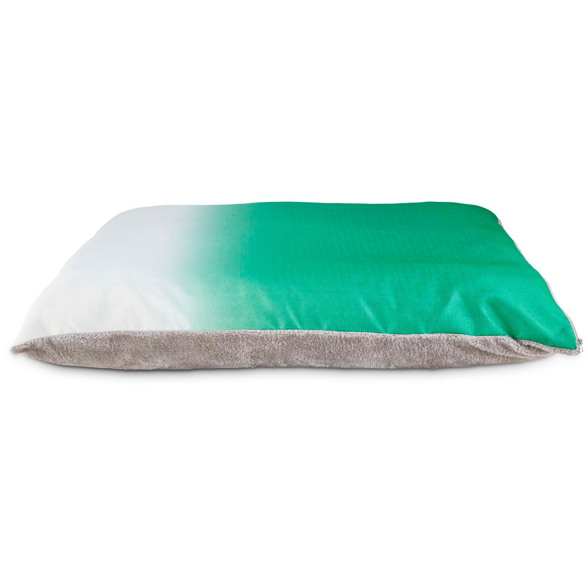 you & me pillow dog bed in green ombre | petco