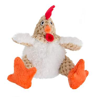 goDog Just For Me Fat White Rooster Dog Toy