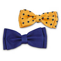 Bond & Co. Navy and Yellow Dog Bowties