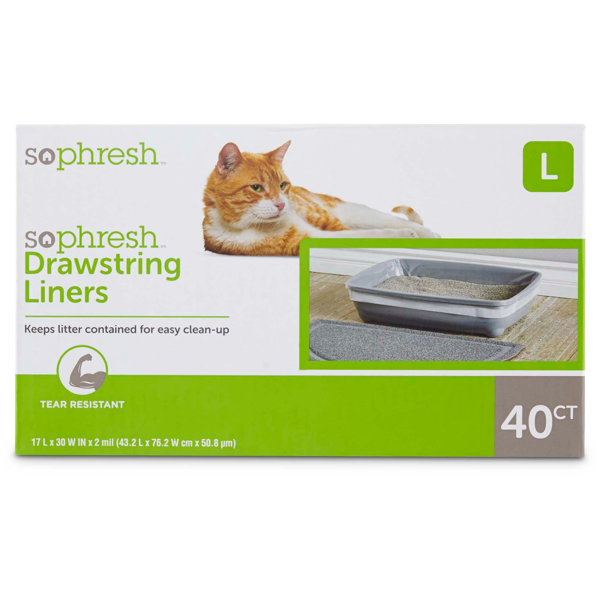 So Phresh Drawstring Cat Litter Box Liners | Petco