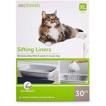 So Phresh Sifting Cat Litter Box Liners