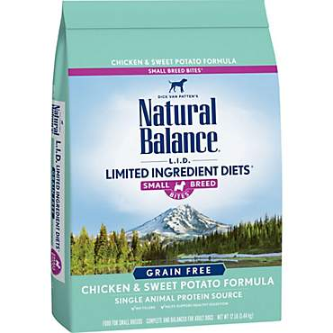 Natural Balance L.I.D. Limited Ingredient Diets Chicken & Sweet Potato Small Breed Bites Dog Food