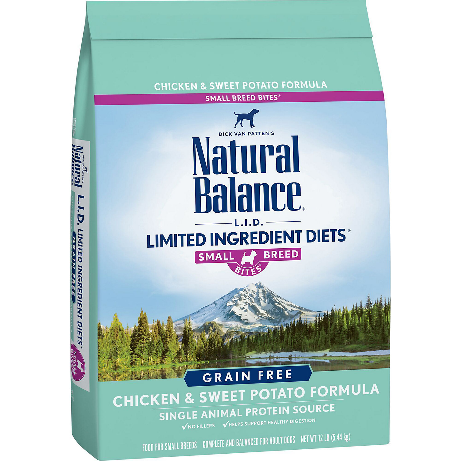 Natural Balance L.i.d. Limited Ingredient Diets Chicken & Sweet Potato Small Breed Bites Dog Food, 12 Lbs.