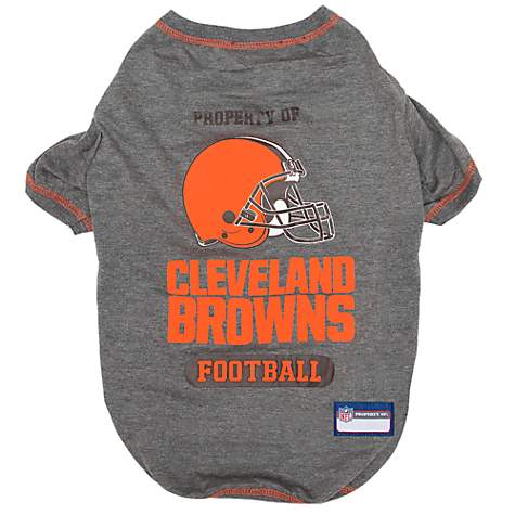 new concept abf1f 31ea3 Pets First Cleveland Browns T-Shirt, X-Small