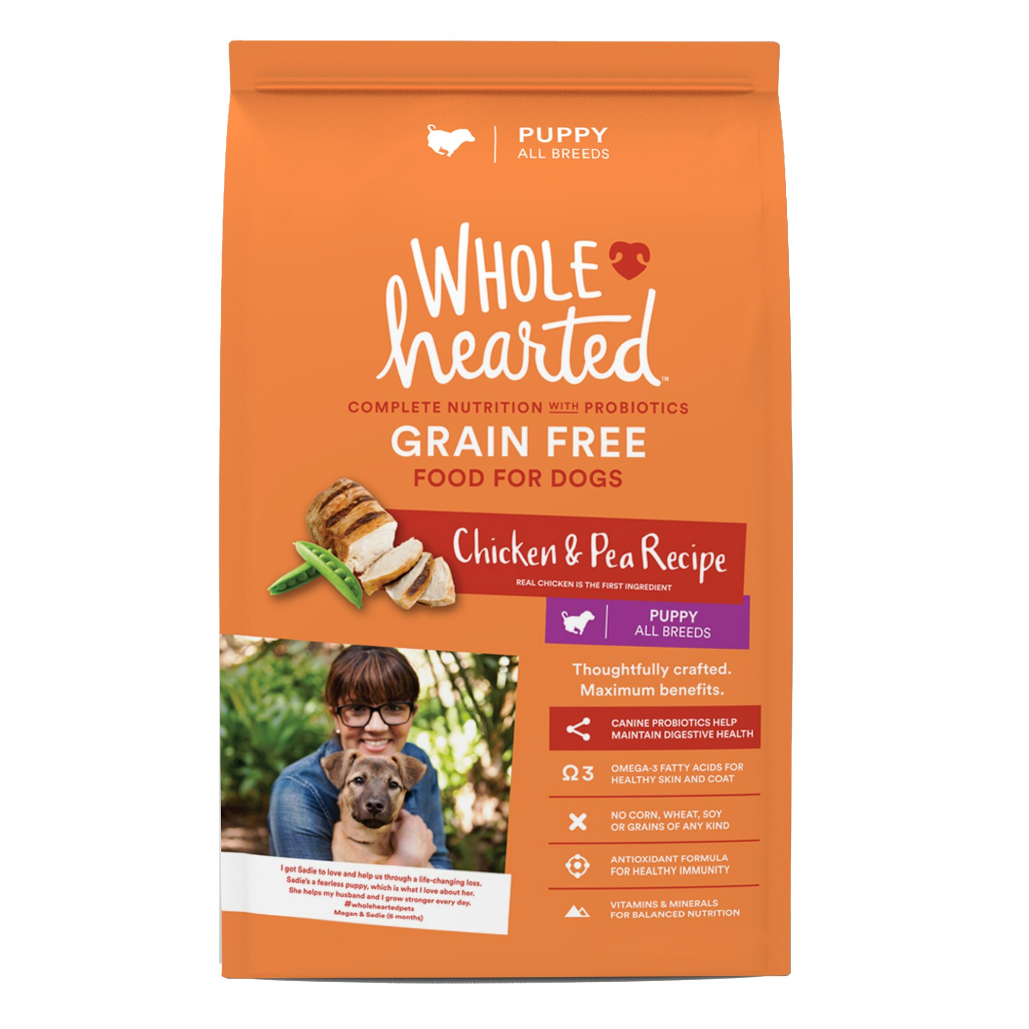 Wholehearted grain free chicken and pea recipe dry puppy food petco forumfinder Gallery