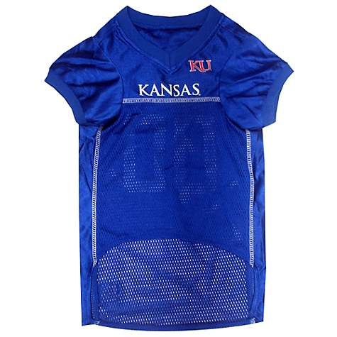 Pets First Kansas Jayhawks NCAA Mesh Jersey For Dogs