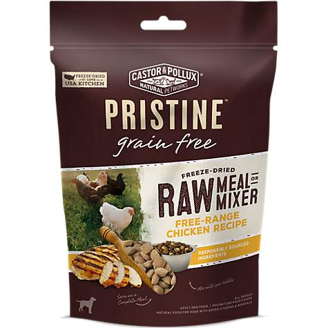 Castor & Pollux Pristine Freeze Dried Raw Meal or Mixer Chicken Recipe Adult Dry Dog Food