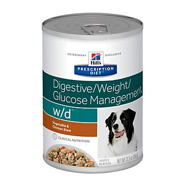 Hill's Prescription Diet w/d Digestive/Weight/Glucose Management Vegetable & Chicken Stew Canned Dog Food