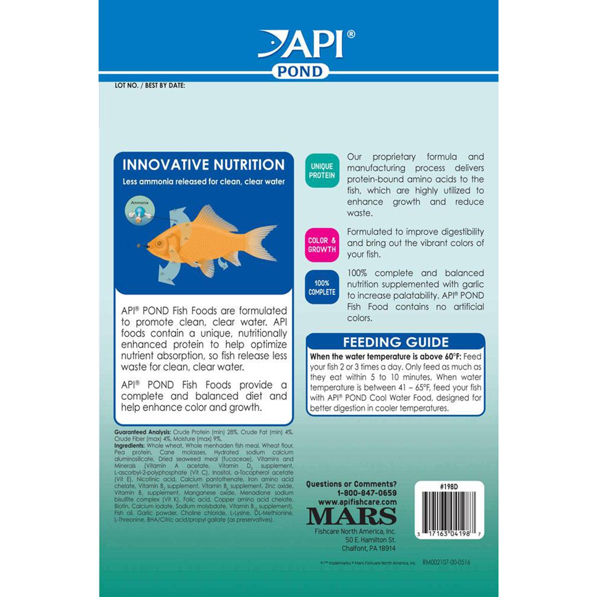 API Pond Fish Food, 1 56 lbs  2685736 | PetCoach