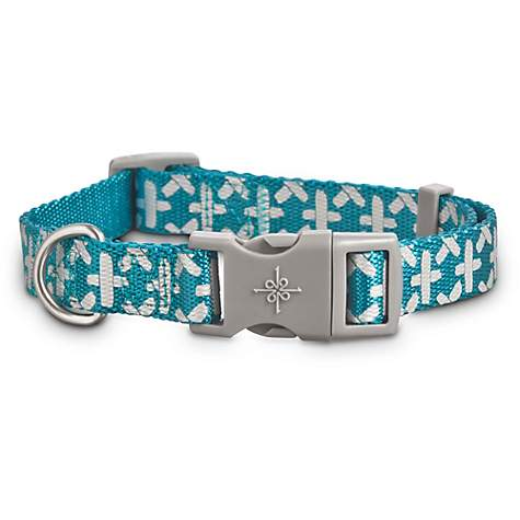 Good2Go Reflective Teal Abstract Weave Dog Collar