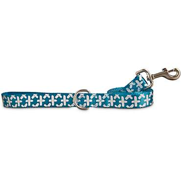 Good2Go Reflective Teal Abstract Weave Dog Leash