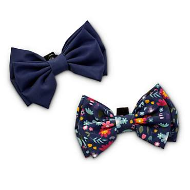 Bond & Co. Blue Blossom Dog Bow Set