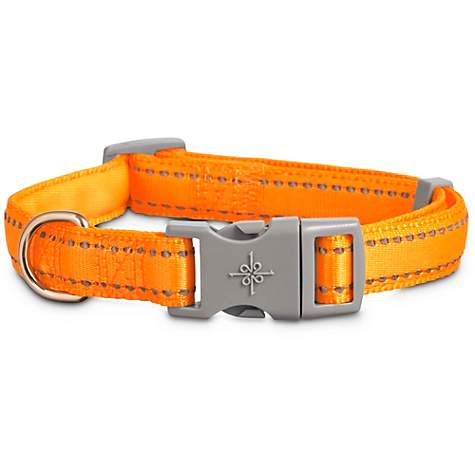 Good2Go Reflective Adjustable Padded Dog Collar in Orange