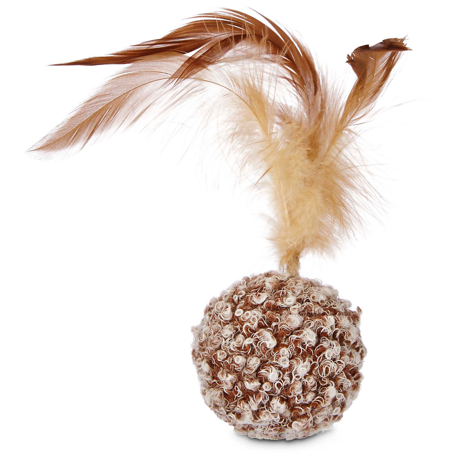 Image of Leaps & Bounds Ball with Feather Cat Toy