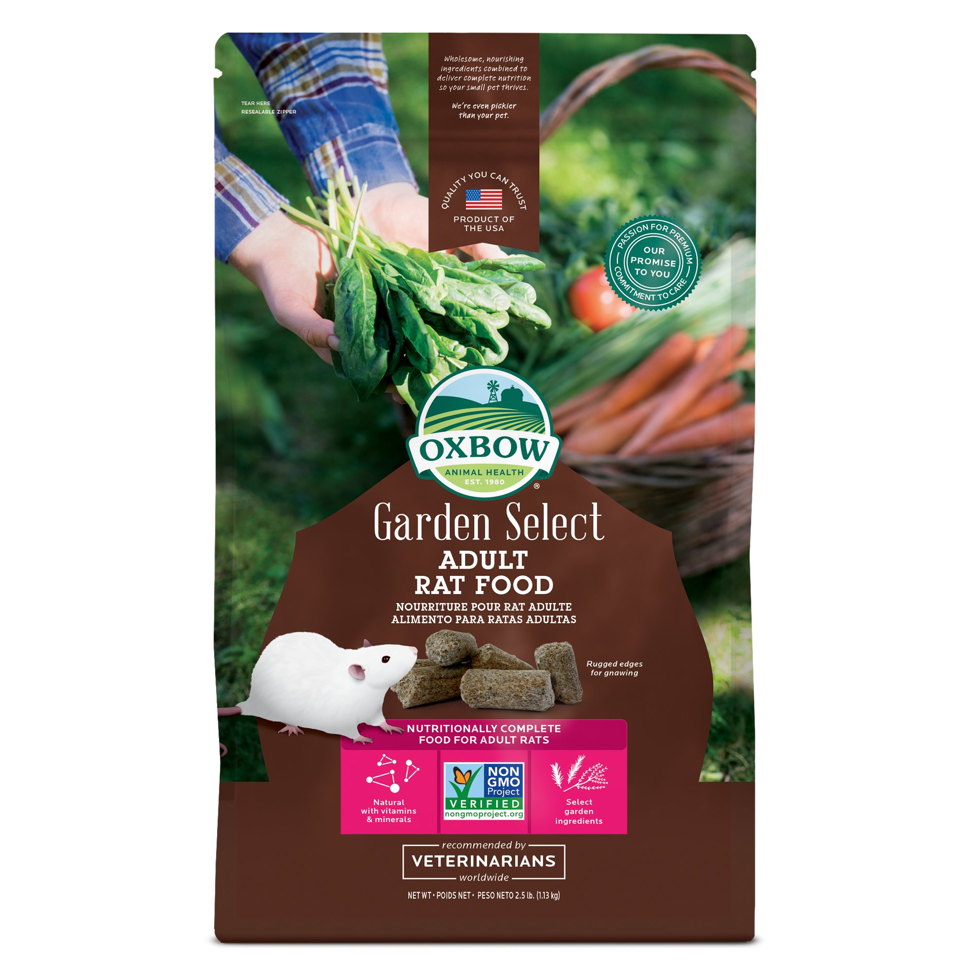 Oxbow Garden Select Fortified Food for Rats | Petco