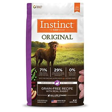 Instinct Original Grain Free Recipe with Real Rabbit Natural Dry Dog Food by Nature's Variety