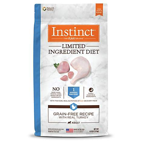 Instinct Limited Ingredient Diet Grain Free Recipe with Real Turkey Natural Dry Dog Food by Nature's Variety