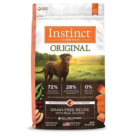 Instinct Original Grain Free Recipe with Real Salmon Natural Dry Dog Food by Nature's Variety