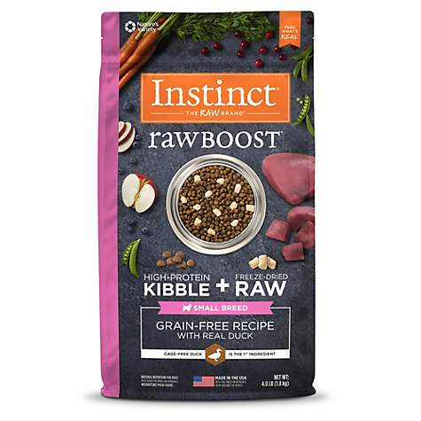 Instinct Raw Boost Small Breed Grain Free Recipe with Real Duck Natural Dry Dog Food by Nature's Variety