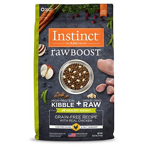 Instinct Raw Boost Healthy Weight Grain Free Recipe with Real Chicken Natural Dry Dog Food by Nature's Variety