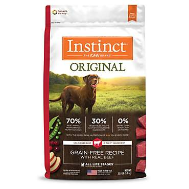 Instinct Original Grain Free Recipe with Real Beef Natural Dry Dog Food by Nature's Variety