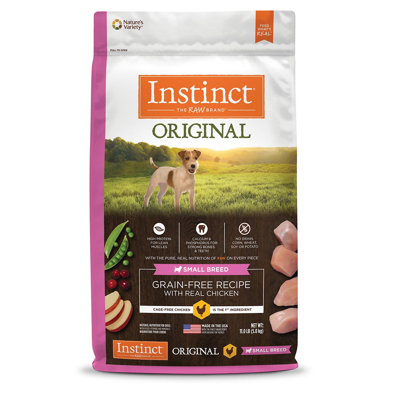 Nature s Variety Instinct Original Small Breed Grain Free Chicken Dry Dog Food