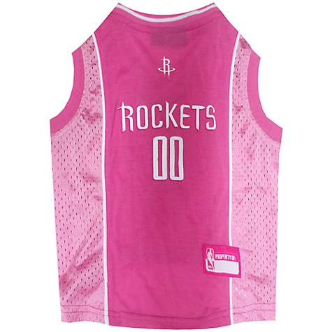 Pets First Houston Rockets Pink Jersey