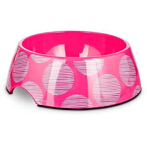 Bowlmates Pink Polka Dot Single Dog Bowl Base 3 Cups