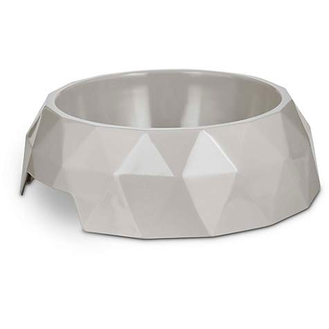 Bowlmates Gray Facet Single Dog Bowl Base