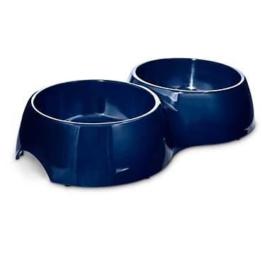 Bowlmates Navy Double Dog Bowl Base Petco