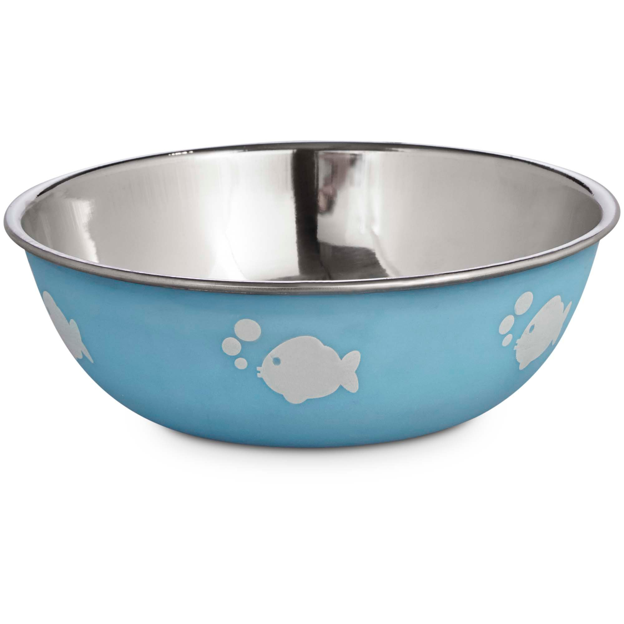 Harmony blue stainless steel cat bowl petco for Petco fish bowl