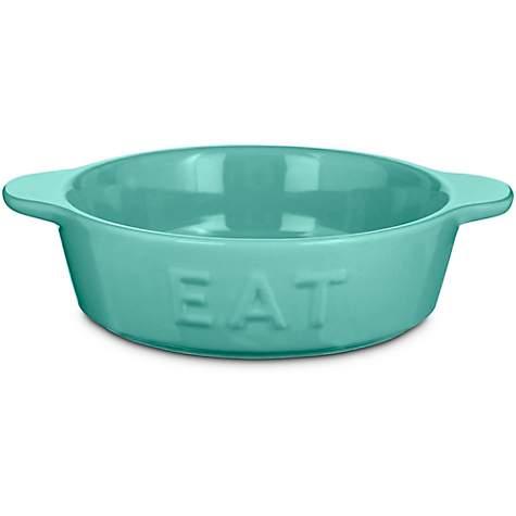 harmony mint eat ceramic cat bowl petco. Black Bedroom Furniture Sets. Home Design Ideas