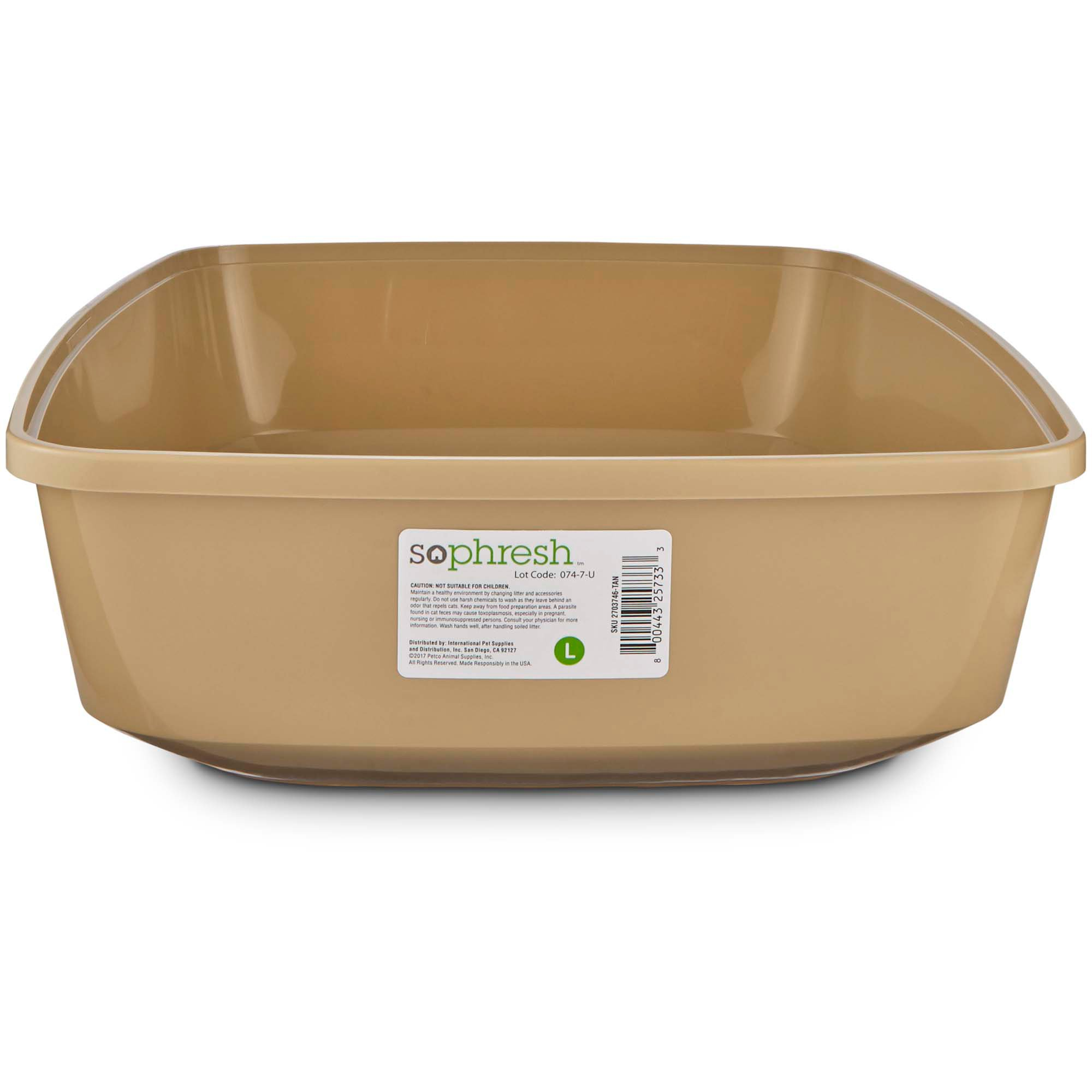 So phresh warm taupe open cat litter box petco for Dog litter box petco