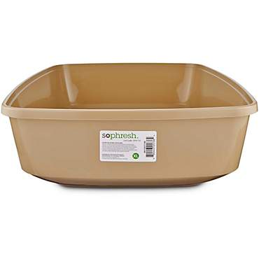 So Phresh Warm Taupe Open Cat Litter Box